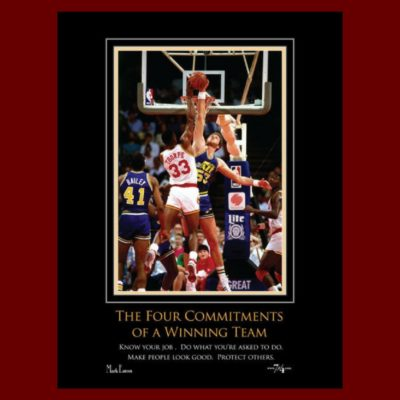 The Four Commitments of a Winning Team Autographed Poster