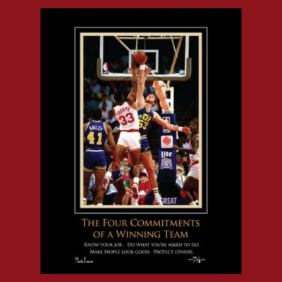 The Four Commitments of a Winning Team Poster