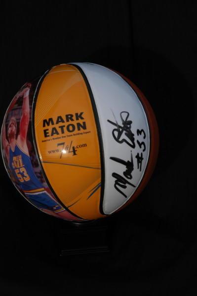 Autographed Stats Basketball