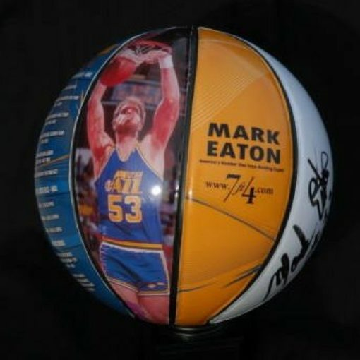 Autographed Stats Basketball