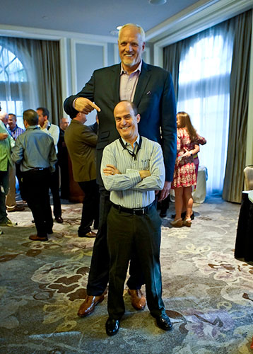 Mark Eaton with conference attendee