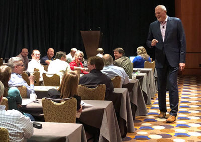 Mark Eaton at conference